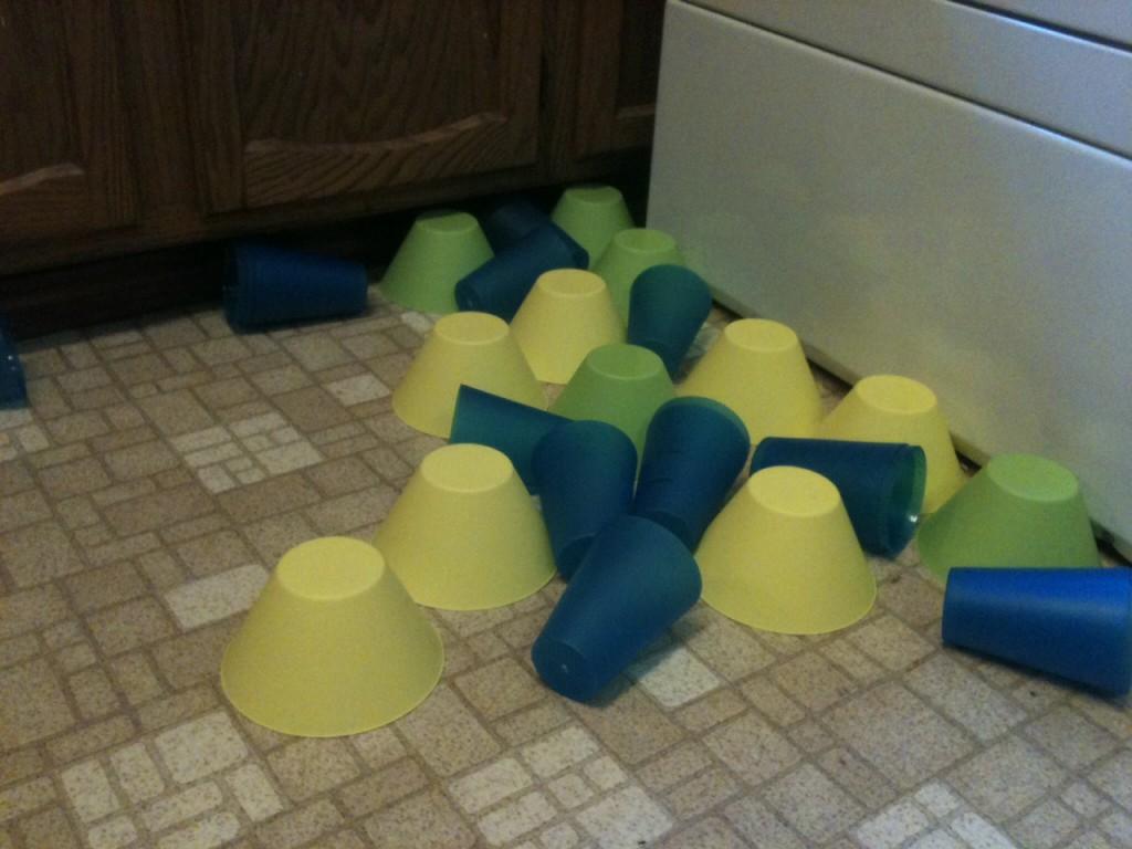 plastic on floor
