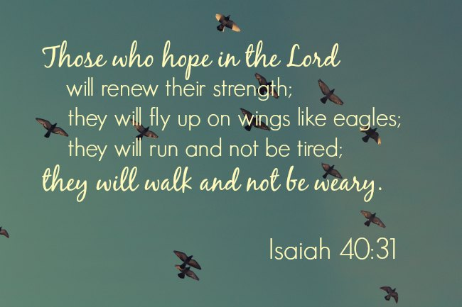 Isaiah 40:31 wings like eagles