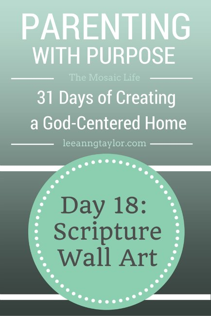 Parenting With Purpose - Scripture Wall Art