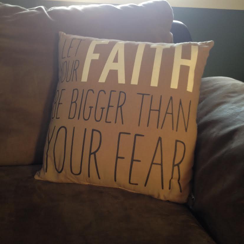fear faith pillow